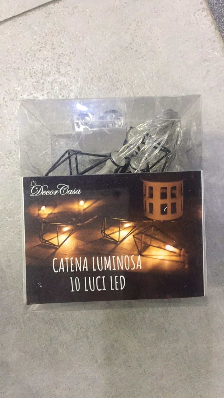 Catena Luminosa 10 Luci Led